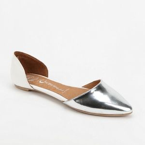 Jeffrey Campbell pointed Toe Dorsay Flats in Love
